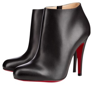 Christian Louboutin Leather Ankle BLACK Boots