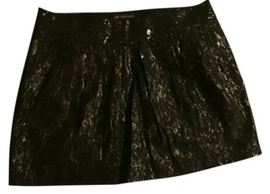 A|X Armani Exchange Mini Skirt Black with shine