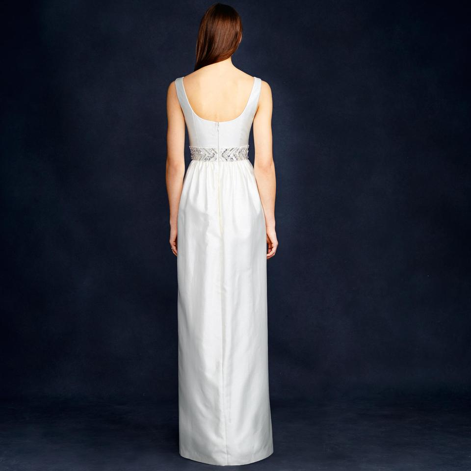 J crew ivory silk and cotton twill annabelle modern for J crew wedding dress size chart