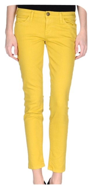 Item - Mustard Yellow Medium Wash Nwot Ankle Msrp Skinny Jeans Size 25 (2, XS)