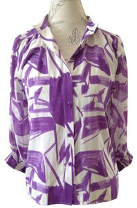 Alice + Olivia Brush Strokes Top Violet