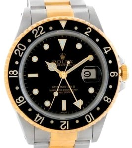 Rolex Rolex Gmt Master Ii Mens 18k Yellow Gold Steel Watch 16713