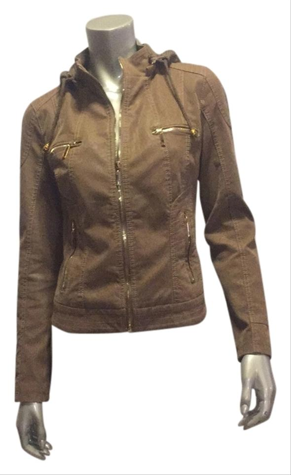 Light Brown Leather Jacket Size 0 (XS) - Tradesy