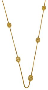 Michael Kors MKJ3990710 Michael Kors Gold Tone Crystal Maritime Station Necklace 36''