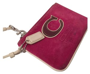Coach Wristlet in Pink, Brown, White