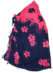 Pareos, Etc. Hawaiian Floral Fringed Sarong Bikini Wrap Shawl
