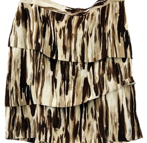 Adrienne Vittadini Linen Skirt BROWN