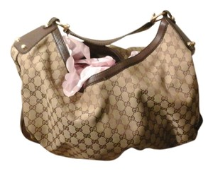 Gucci Canvas Leather Stylish Hobo Bag
