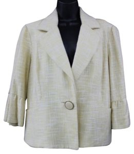 Nicole Miller Cotton Blouse YELLOW Blazer