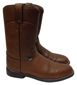 Justin Leather Brown Boots