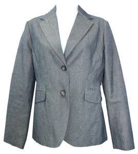 Banana Republic Cotton Blue Blazer