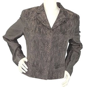 T Tahari T Animal Printed BROWN Blazer