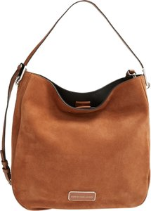 Marc by Marc Jacobs Suede Ligero Mbmj Hillier Boho Caramel Taupe Hobo Bag