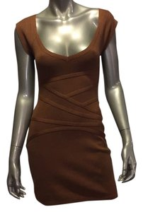 Halston short dress Camel on Tradesy