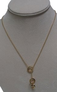 Tiffany & Co. NEW Tiffany & Co.18K Y.Gold 1837 Mini Rings Interlocking Lariat Pendant Necklace 18