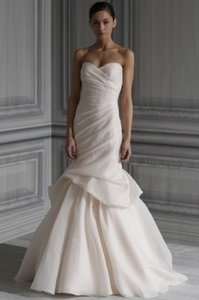 Monique Lhuillier Other Silk Peony- Blush Color Formal Wedding Dress Size 4 (S)