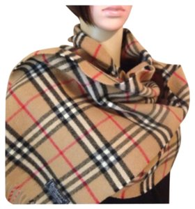 Burberry Vintage Burberrys London Scarf 100% Lambswool Auth