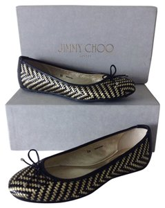 Jimmy Choo Black & Gold Flats