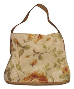 Francesco Biasia Vintage Sale Clearance Genuine Leather Floral Flowers Italy Shoulder Bag