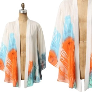 Anthropologie Lightweight Feather Silk Cardigan