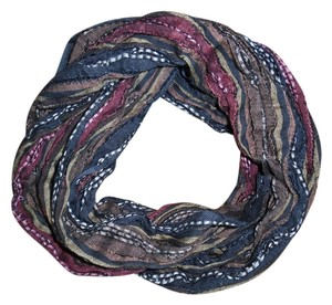 Other Earth Tones Striped Woven Stretchy Infinity Scarf