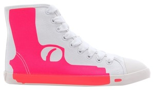 Be&D Canvas Rubber White/Fuchsia Athletic