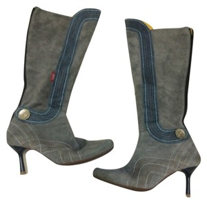 Miss Sixty Vintage grey and blue suede Boots