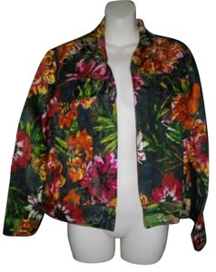 Chico's Xs Rayon Silk Multicolored Jacket