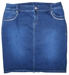 Lane Bryant Stretch Mini Skirt Blue