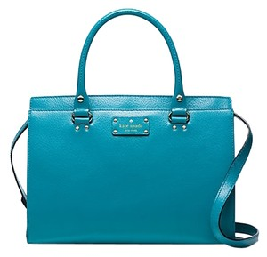 Kate Spade Satchel in Neon turquoise
