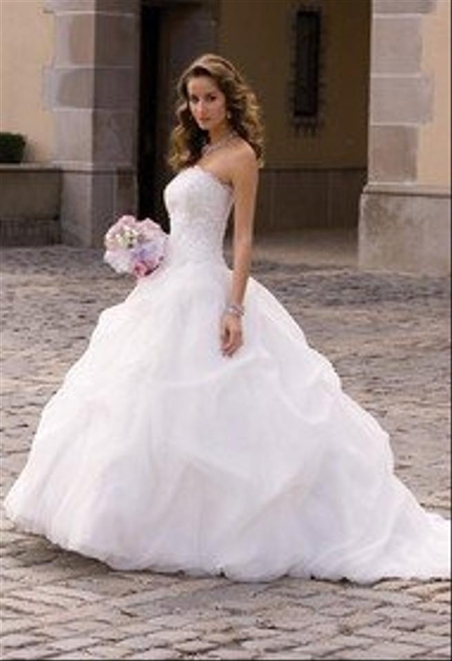 organza gathered wedding dress with beaded lace wedding