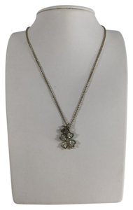 Chanel Gold Chain Four Leaf Clover Pendant Necklace