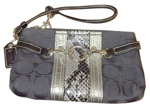 Coach Wristlet in Black / Grey