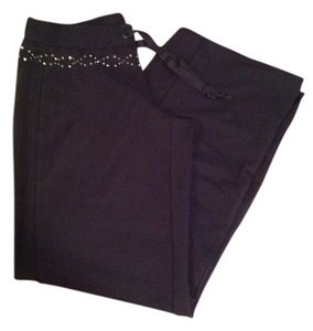 Finity Sparkles Stretch Drawstring Comfort Athletic Pants Navy