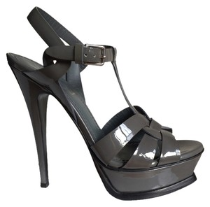 Saint Laurent Grey Patent Sandals