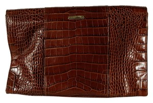Rebecca Minkoff Large Flap Envelope Brown Clutch