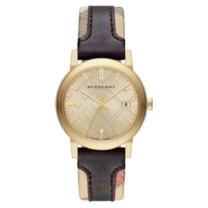 Burberry Burberry the City BU9032 Haymarket Check Brown Leather Womens Watch