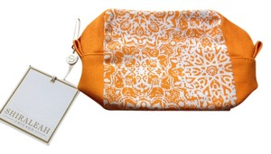 Shiraleah Cosmetic Orange Salmon Clutch