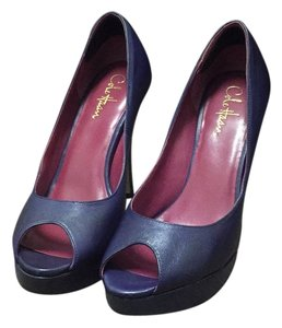 Cole Haan Blue Platforms