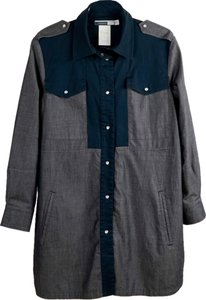 Sportmax Blue/Grey Womens Jean Jacket