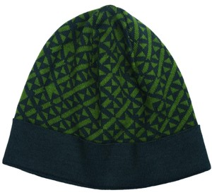 Versace Versace Green Knitted Beanie Wool Blend Hat