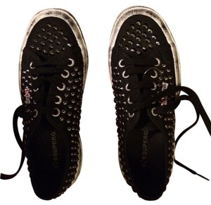 Superga Black with silver studs Athletic