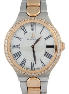 Bertolucci Gold and Stainless Steel Two Tone Serena Garbo Mid-Size Watch 37mm