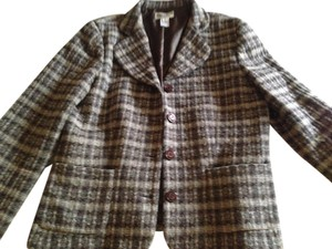 Pendleton Vintage Plaid Classic mixed browns Jacket