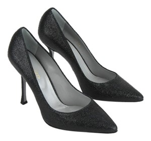 Sergio Rossi Leather Textured Pump Nero (Black) Pumps