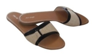 Lands' End Patent with Khaki Linen Sandals