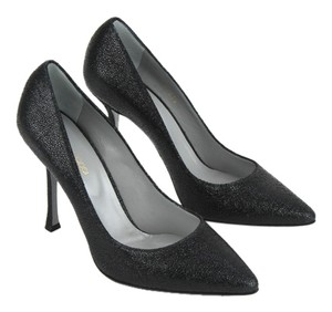 Sergio Rossi Leather Textured Nero (Black) Pumps