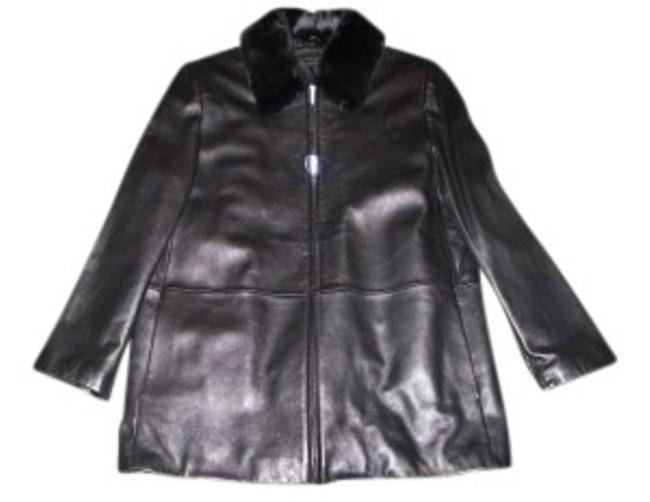 Preload https://item1.tradesy.com/images/liz-claiborne-black-lined-lambskin-leather-jacket-size-14-l-6460-0-0.jpg?width=400&height=650