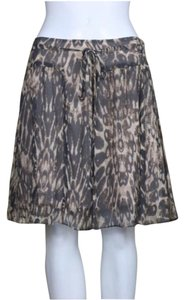 Club Monaco Silk Lined Fit & Flare Skirt
