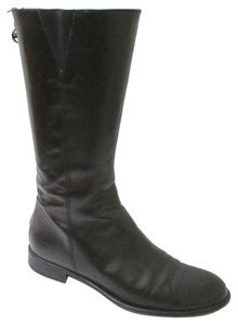 Ralph Lauren Leather Side Zip Riding Black Boots